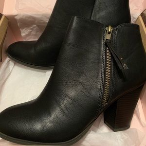 Brand New Black Faux Leather Ankle Boots